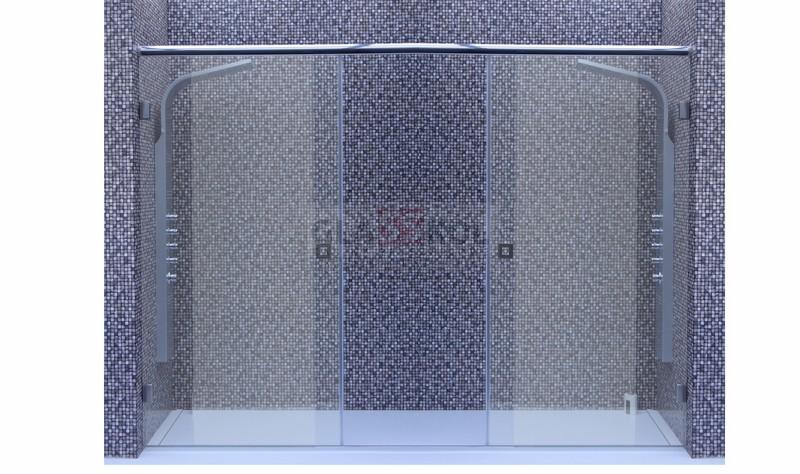 system przesuwny podw jne drzwi wn ka 190cm kabiny prysznicowe na wymiar glasskol. Black Bedroom Furniture Sets. Home Design Ideas